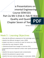 Part 2a Wk 5-6 Water Quality and Quantity EENV 101