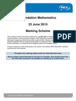 FDM June 2015 Examination Marking Scheme - Final