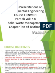 Part 2b Wk 7-8 Solid Waste Engineering and Management EENV 101 3T 2015-2016