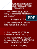 One Another Relationships Within the Lord's Body 3