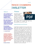 Conference Chambers Newsletter 9 May 2016 by Ryan Clement barrister