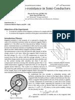 Magneto Resistance in Semi-conductors