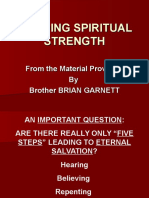 Building Spiritual Strength P. P. Intro