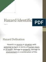 05 - Topic 4 - Hazard Identification