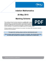 Foundation Mathematics May 2015 Exam Marking Scheme - Final FPB