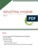 08 - Topic 7 - Industrial Hygiene