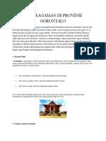 Keberagaman Di Provinsi Gorontalo