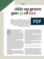 Groen gas subsidie