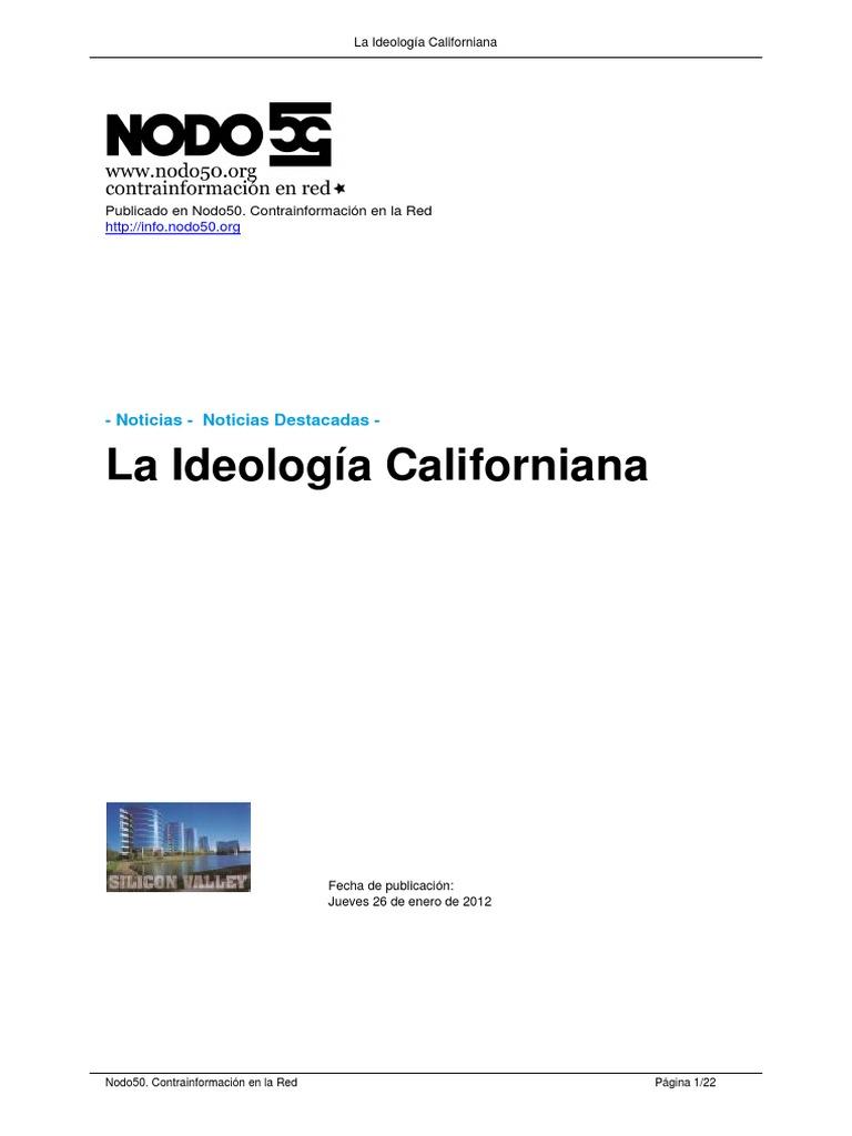 Ideologia Californiana Richard Barbrook