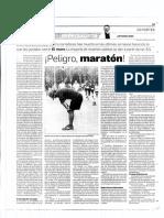 ¡Peligro, maratón!