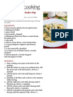 Spinach and Artichoke Dip Pasta on Closet Cooking