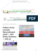 Indian Army Lawyer Recruitment 2016 – JAG Entry Scheme - JAG 17