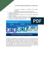 Estimaciones y Proyecciones Derivadas de Poblacion