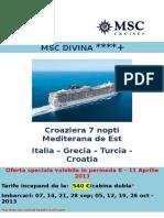 96 Ore de Vanzari Msc Cruises Msc Divina 493