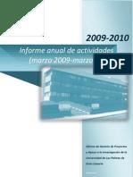 Informe Anual PMO 2009-2010 v1.5