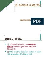 Consumer  behavior asseals matrix