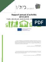 Rapport annuel d'activités The Beit Project 2014-2015
