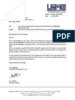 Letter for Diversion of Material