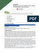 Curso Bioquimica en Harvard
