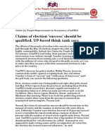 CenPEG Comelec Claim of Success is Inaccurate May 12 2010 Final