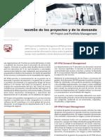 Folleto HP Project and Portfolio Management PPM Gestion de Proyectos y de La Demanda