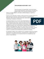 Informe Salud Integral y Adolescencia