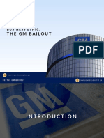 Business Ethic GM BAILOUT
