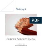 Writing 3_Summer Semester