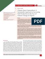 Climate Smart Aquaculture