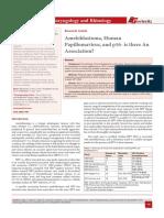Ameloblastoma, Human Papillomavirus, and p16- is there An Association?