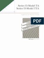 Fanuc Series 15-Model TA,TTA Operator's Manual Supplement for Trouble Diagnosis Guidance (B-61214E-1_01)