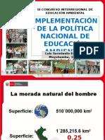 Conferencia Magistral 02 Implementación de La Política Nacional de Educación Ambiental