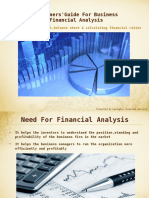 Beginners Guide for Business Financial Analysis