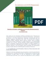 Derecho Al Medio Ambiente en La NCPE Plurinacional de Bolivia