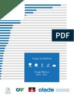 OLADE, Antigua and Barbuda, Energy Balances 2010-2012