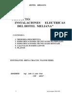 Memoria Descriptiva y Especificaciones Hotel