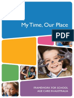 My Time Our Place Framework for School Age Care in Australia