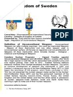 Kingdom of Sweden - DISEC - Regulation of Unconventional Weapons