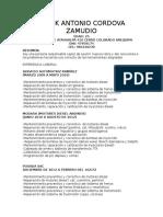 Frank Antonio Cordova Zamudio