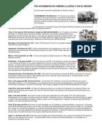 Terremotos Ocurridos en America Latina y en El Mundo