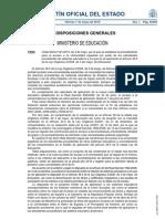 Orden EDU 1161/2010 procedimientos que deben realizar los estudiantes procedentes de otros sistemas educativos para poder acceder a la Universidad española