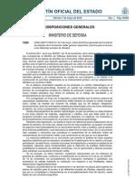 Orden DEF/1158/2010 sobre directrices generales de los planes de estudios de la formación militar