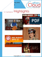 Current Affairs February Study PDF Capsule 2016 by AffairsCloud