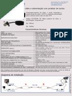 110102240 Balun Passivo de Video e Alimentacao Com Protetor de Surtos