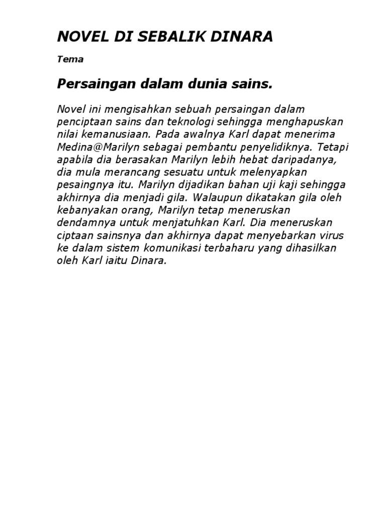 Contoh Jawapan Persoalan Novel Di Sebalik Dinara Resepi Book N