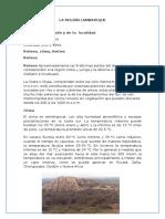 Datos Sobre La Región Lambayeque