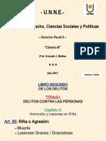 Art 95-96-Homicidio y Lesiones en Riña