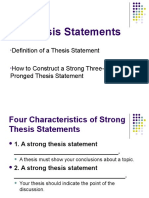 Revised Three-prong Thesis Statement Ppt