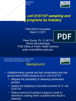 Design of E. Coli O157H7 Sampling Programs by Industry