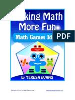 making math more fun math games ideas